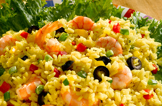 Carolina Shrimp And Saffron Rice Salad The Fluffy Long Grain Rice